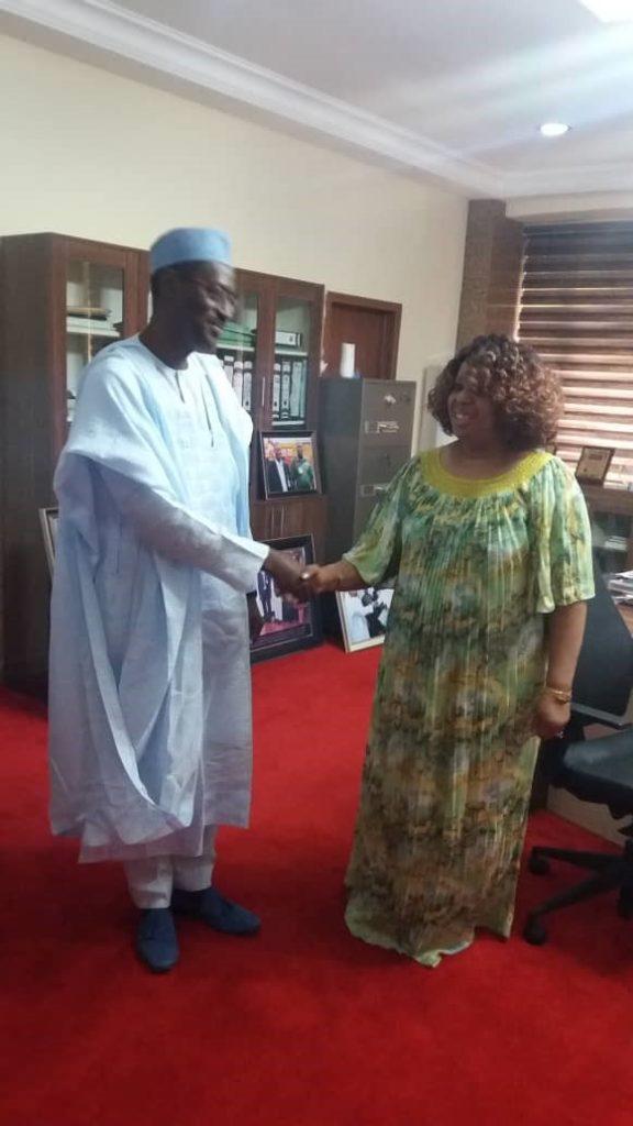 Arc. Ahmed Musa Dangiwa, MD Federal Mortgage Bank Nigeria (FMBN) Pat McCants, ADCC 2018 Abuja, Nigeria