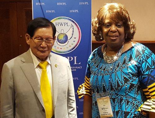 Chairman Man Hee Lee, HWPL & Pat McCants, ADCC ADDIS ABABA, ETHIOPIA 2018