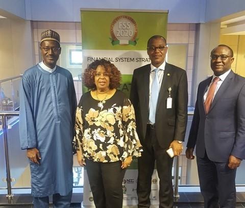 (L to R) Arc. Ahmed Dangiwa, MD FMBN, Pat McCants, ADCC, M.D. Suleyman, Director FSS 2020, Kehinde Ogundimo, MD/CEO NMRC Abuja, Nigeria 2018