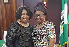 PAT McCants, ADCC &Mrs. Winifred Oya-Ita, FCAHead Of Civil Services Of The FederationAbuja, Nigeria 2017